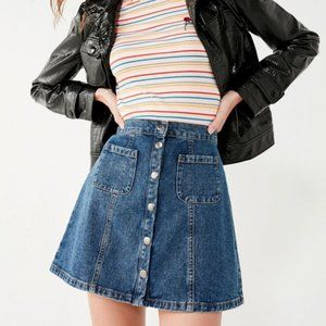 Urban Outfitters BDG Denim Button-Front Skirt